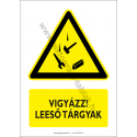 Leeső anyagok figyelmeztető piktogram tábla