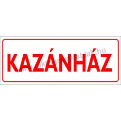 Kazánház piktogram tábla