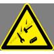 Leeső tárgyak figyelmeztető piktogram matrica