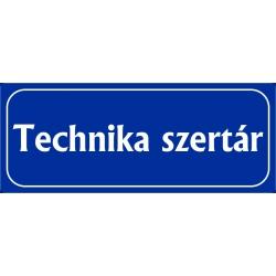Technika szertár 25x10 cm
