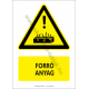 Forró anyag figyelmeztető piktogram tábla