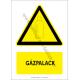 Gázpalack figyelmeztető piktogram tábla