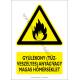 Gyúlékony (tűzveszélyes) anyag vagy magas hőmérséklet figyelmeztető piktogram tábla