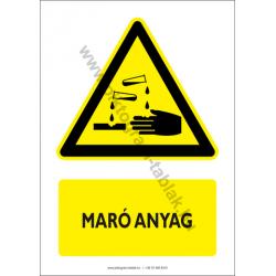 Maró anyag figyelmeztető piktogram tábla