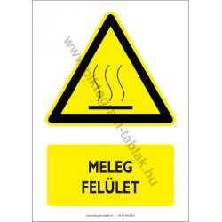 Meleg felület figyelmeztető piktogram tábla