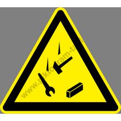 A magasban dolgoznak figyelmeztető piktogram matrica