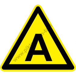 X figyelmeztető piktogram matrica