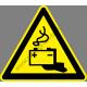 Akkumulátor helyiség figyelmeztető piktogram matrica