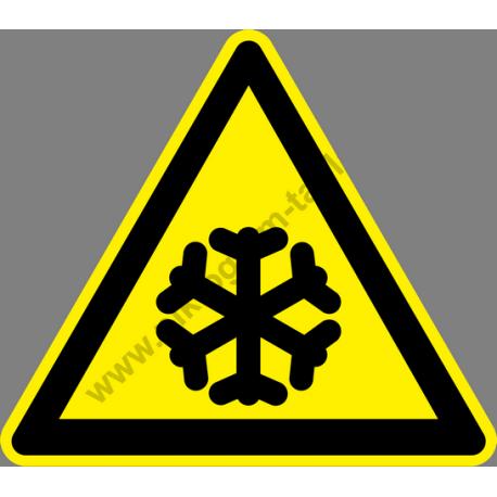 Alacsony hőmérséklet figyelmeztető piktogram matrica