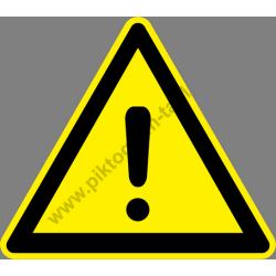 Általános veszély figyelmeztető piktogram matrica