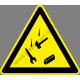 Az állványon dolgoznak figyelmeztető piktogram matrica