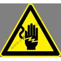 Áramütés veszélye figyelmeztető piktogram matrica