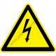 Villám jel figyelmeztető piktogram matrica