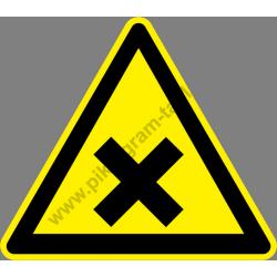 Ártalmas vagy ingerlő anyagok figyelmeztető piktogram matrica