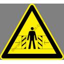 Autómatikusan működő ajtó figyelmeztető piktogram matrica