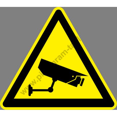Biztonsági kamera figyelmeztető piktogram matrica