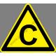 C tűzveszélyességi fokozat figyelmeztető piktogram matrica