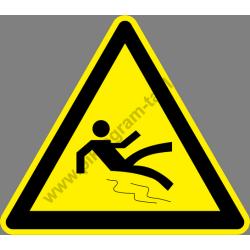 Csúszás veszély figyelmeztető piktogram matrica