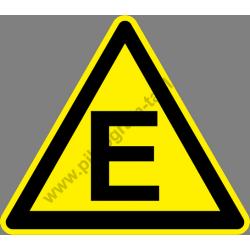 E tűzveszélyességi fokozat figyelmeztető piktogram matrica
