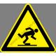 Egyenetlen padlózat figyelmeztető piktogram matrica