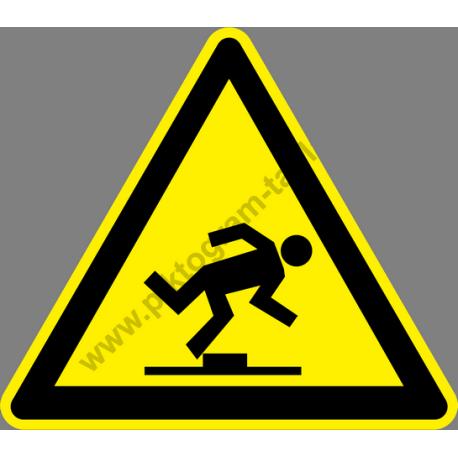 Botlásveszély figyelmeztető piktogram matrica