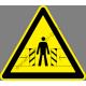 Elmozduló tárgyak figyelmeztető piktogram matrica