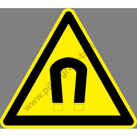 Erős mágneses tér figyelmeztető piktogram matrica