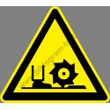 Forgó szerszámok figyelmeztető piktogram matrica