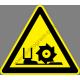 Lábsérülés veszélye figyelmeztető piktogram matrica