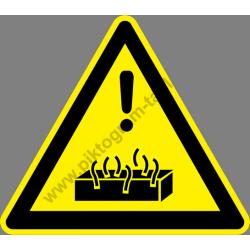 Forró anyag figyelmeztető piktogram matrica