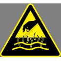 Forró folyadék vagy gőz figyelmeztető piktogram matrica