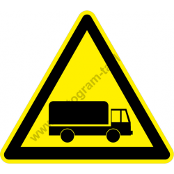 Gépjármű forgalom figyelmeztető piktogram matrica