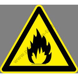 Gyúlékony anyag figyelmeztető piktogram matrica