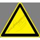 Kézsérülés veszélye figyelmeztető piktogram matrica