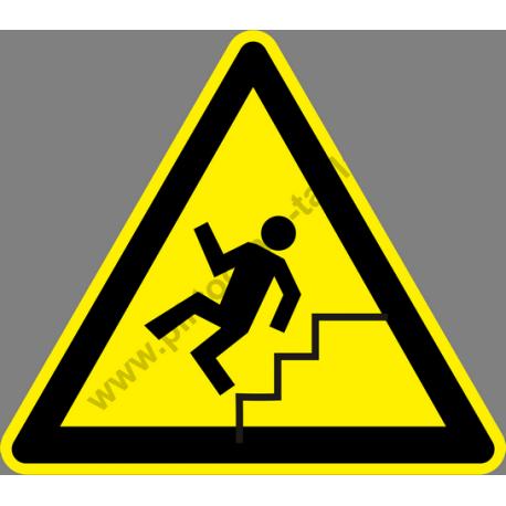 Lépcső figyelmeztető piktogram matrica