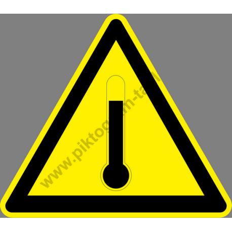 Magas hőmérséklet figyelmeztető piktogram matrica