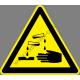 Maró anyag figyelmeztető piktogram matrica