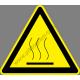 Meleg felület figyelmeztető piktogram matrica