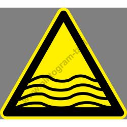 Mélyvíz figyelmeztető piktogram matrica