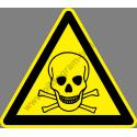 Méreg figyelmeztető piktogram matrica