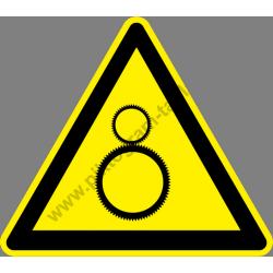 Mozgó gépelemek figyelmeztető piktogram matrica