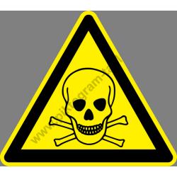 Mérgező anyagok figyelmeztető piktogram matrica