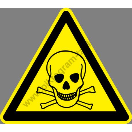 Mérgező anagok figyelmeztető piktogram matrica