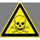 Méregraktár figyelmeztető piktogram matrica