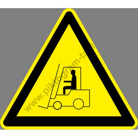 Munkagép közlekedés figyelmeztető piktogram matrica