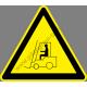 Targonca közlekedés figyelmeztető piktogram matrica