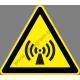 Nem ionizálós sugárzás figyelmeztető piktogram matrica