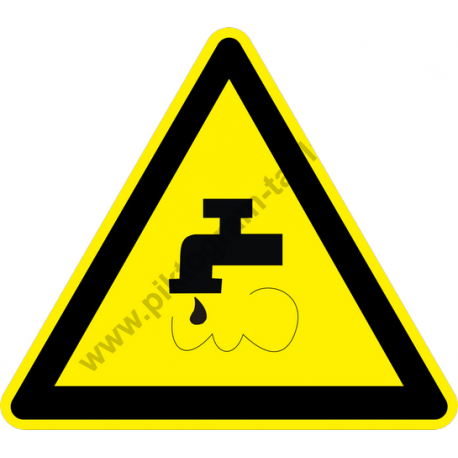 Nem ivóvíz figyelmeztető piktogram matrica
