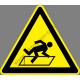 Nyitott akna figyelmeztető piktogram matrica