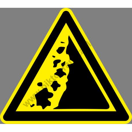 Omlásveszély figyelmeztető piktogram matrica